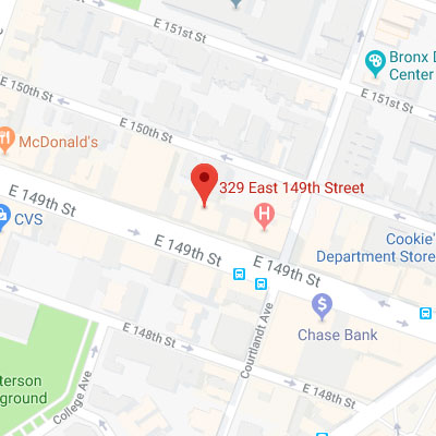 Location of 329 East 149th Street, Bronx, NY 10451