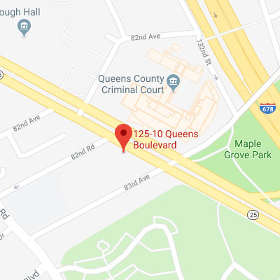 Location of 125-10 Queens Blvd,                Kew Gardens, NY 11415