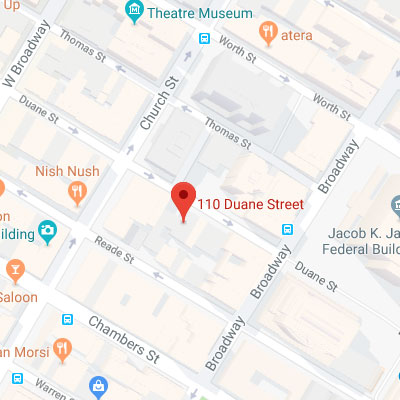 Location of 110 Duane Street, New York, NY 10007